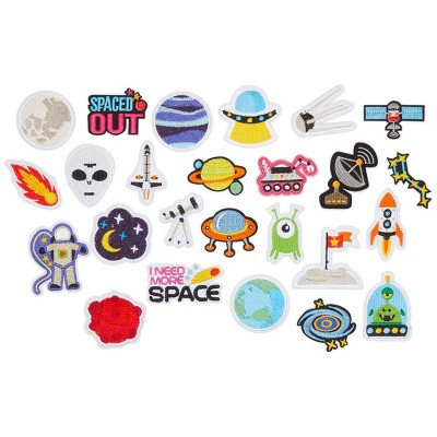 Bright Creations 25 Pieces Iron On Space Patches for Clothing