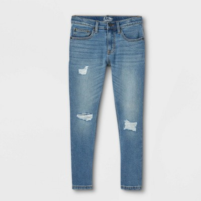 Boys' Relaxed Fit Stretch Taper Jeans - art class™ Light Wash