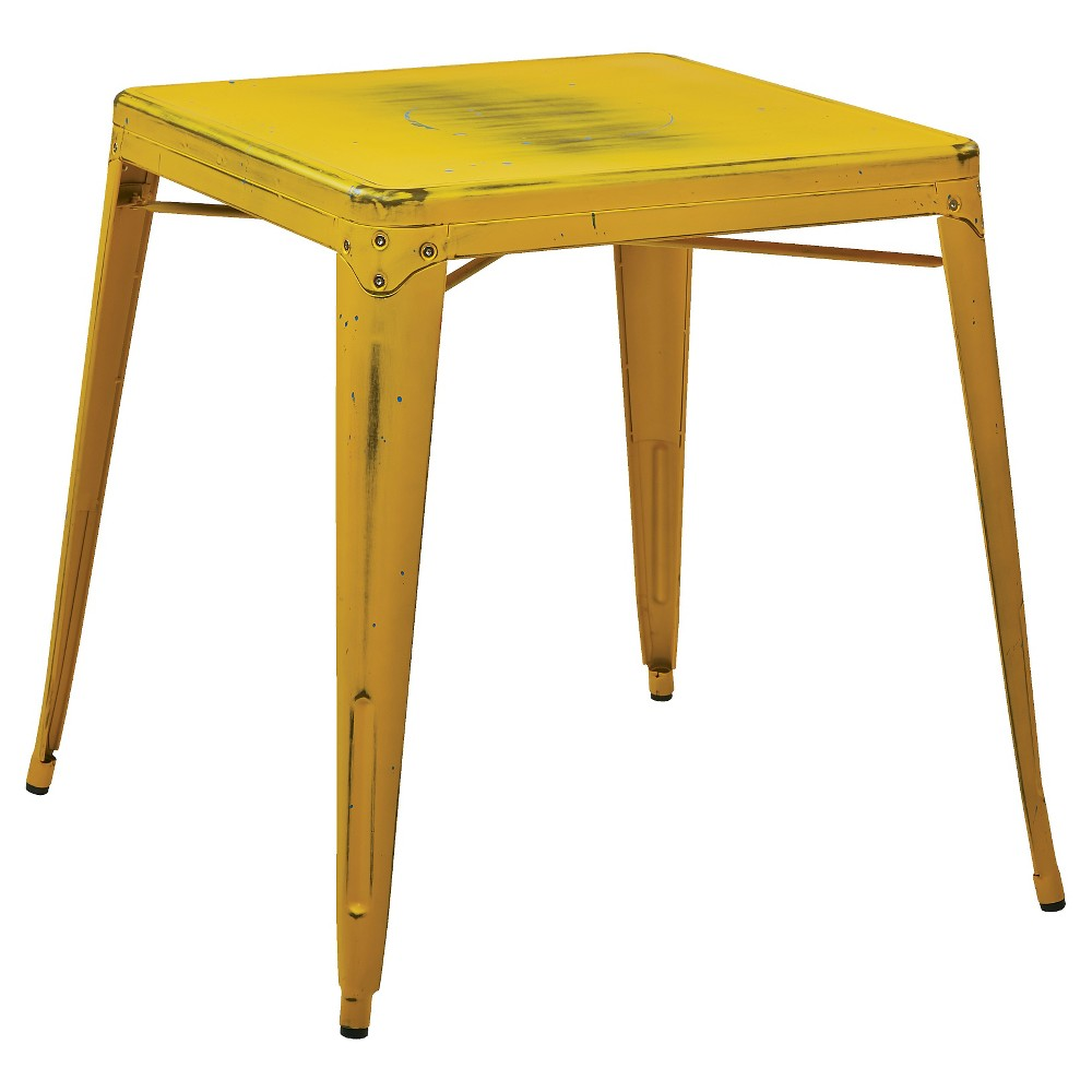 Bristow Antique Metal Table Yellow - Osp Home Furnishings