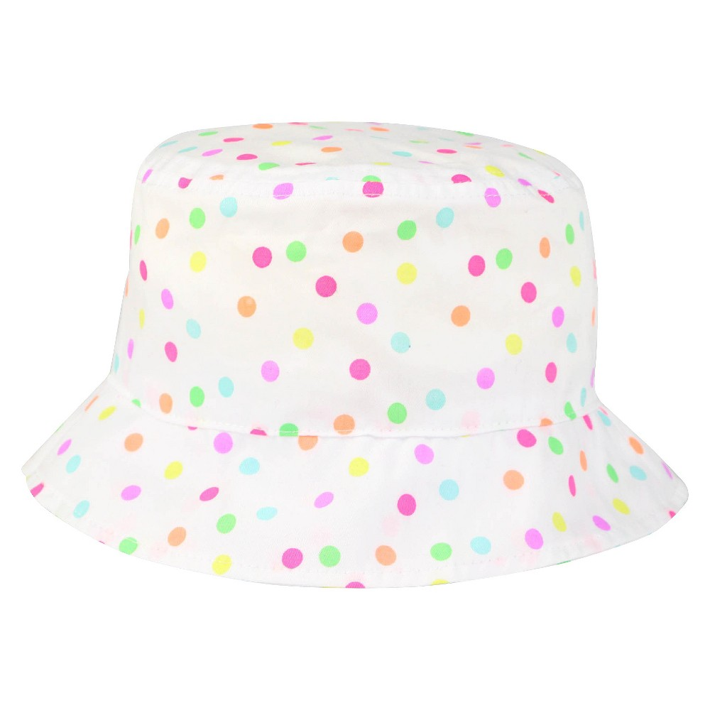 Toddler Girls' Polka Dot Bucket Hat Circo - White 2T-5T, Multicolored
