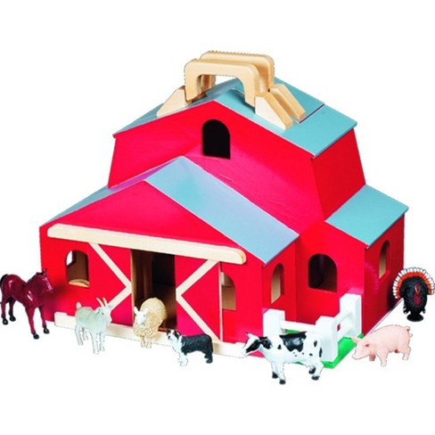 Melissa & Doug® Fold & Go Barn With 7 Animal Play Figures - image 1 of 3