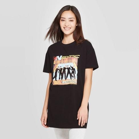 Women's Bravado NSYNC Oversized Sleep T-Shirt - Black S - image 1 of 2
