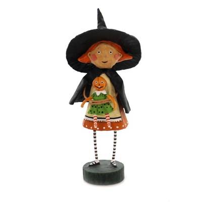 """Lori Mitchell 7.5"""" Gretta Goodwitch Halloween Pumpkin Doll  -  Decorative Figurines"""