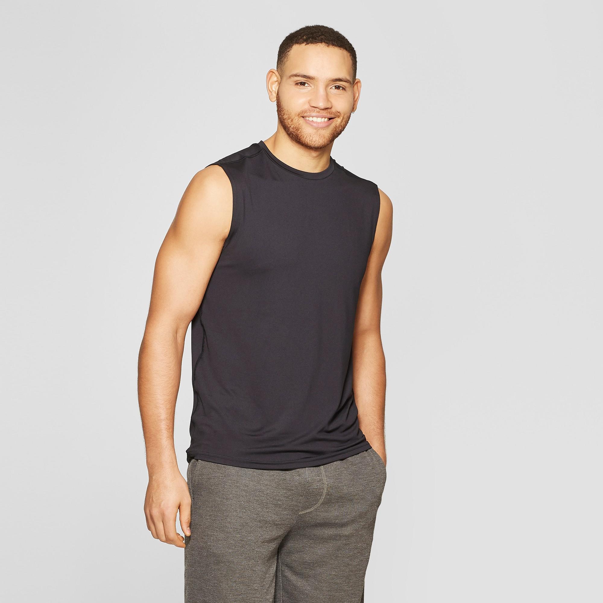 Men's Sleeveless Tech T-Shirt - C9 Champion Black M, Size: Medium