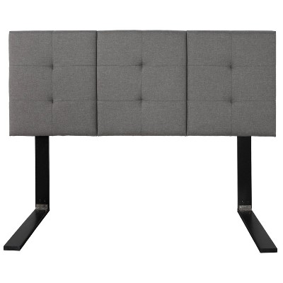 Queen/Double Linen Tufted Universal Headboard Gray - Eco Dream