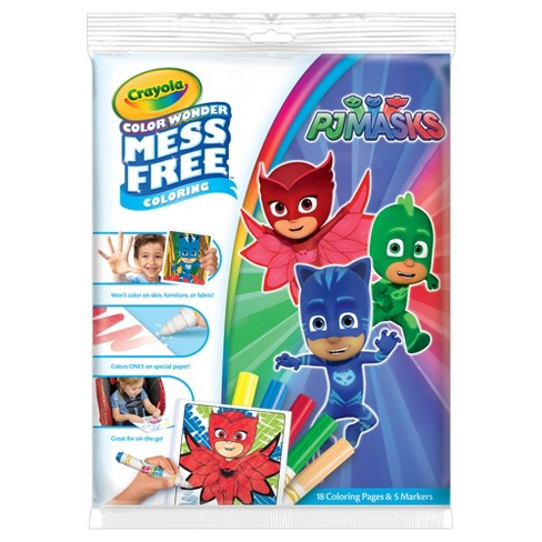 Crayola Color Wonder Coloring Kit Pj Masks Target