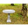 "21.9"" Concrete Lightweight Kante Traditional Textured Flower Diamond Pattern Birdbath White - Rosemead Home & Garden, Inc. - image 4 of 4"