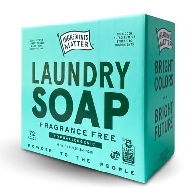 Ingredients Matter Fragrance Free Laundry Soap Powder - 36oz