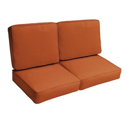 Sunbrella 4pc Outdoor Loveseat Cushion, Loveseat Cushion Outdoor