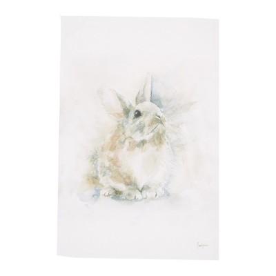 C&F Home Snow Rabbit Cotton Printed Flour Sack Kitchen Towel