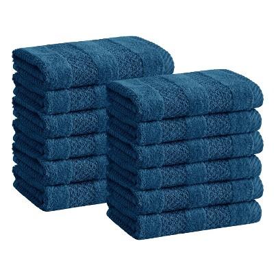 12pk Quick Dry Washcloth Set Blue - Cannon