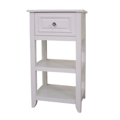 Dawson Floor Cabinet with 1 Drawer White - Elegant Home Fashions
