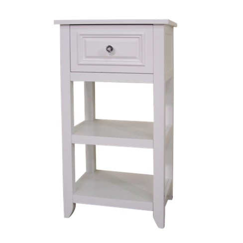 Dawson Floor Cabinet with 1 Drawer White - Elegant Home Fashions - image 1 of 4