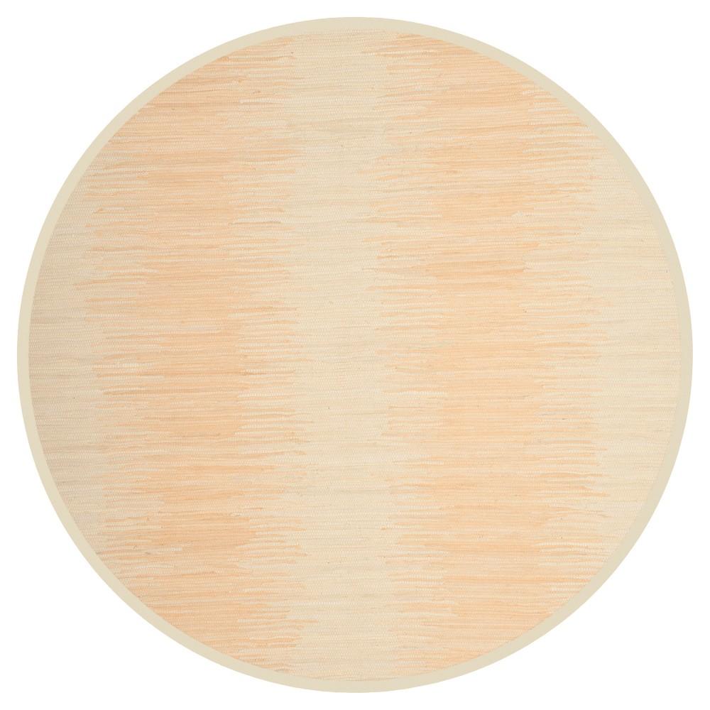 Ivory Geometric Flatweave Woven Round Area Rug 6' - Safavieh