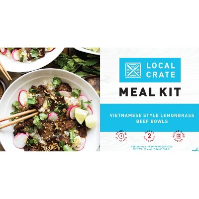 Local Crate Vietnamese Style Lemongrass Beef Bowls Meal Kit - Serves 2 - 33.4oz