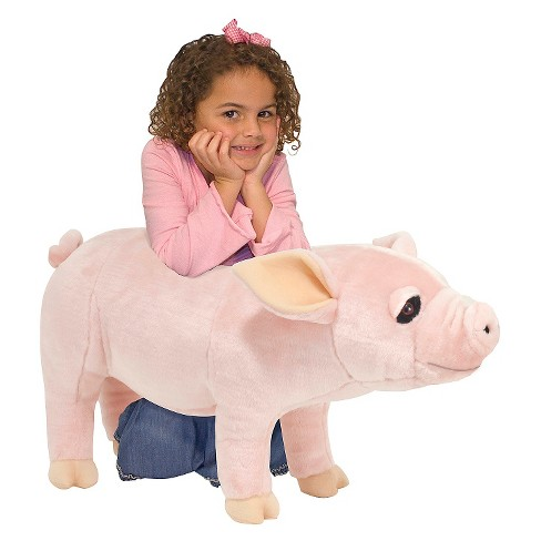 Melissa Doug Giant Pig Lifelike Stuffed Animal Over 2 Feet