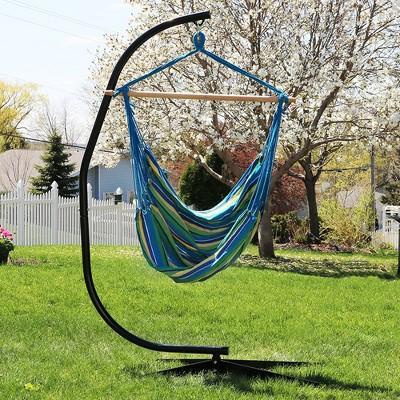 Jumbo Hanging Rope Hammock Chair Swing And C Stand   Ocean Breeze    Sunnydaze Decor : Target