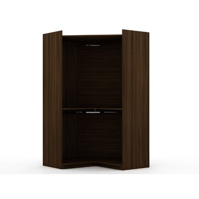 Mulberry Open Corner Closet - Manhattan Comfort