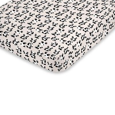 NoJo Super Soft Playful Panda Fitted Mini Crib Sheet