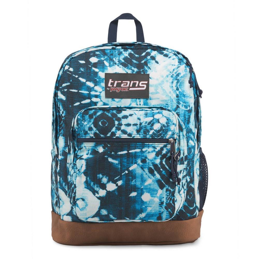 "Image of ""Trans by JanSport 17"""" Super Cool Backpack - Indigo Shibori, Black"""