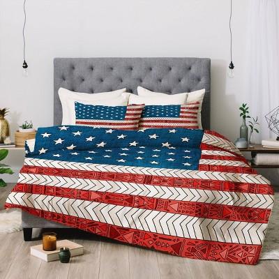 Queen/Full Bianca Green USA Comforter Set - Deny Designs
