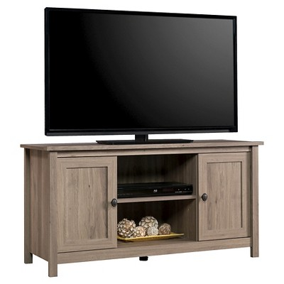 County Line Panel 2 Door TV Stand - Salt Oak