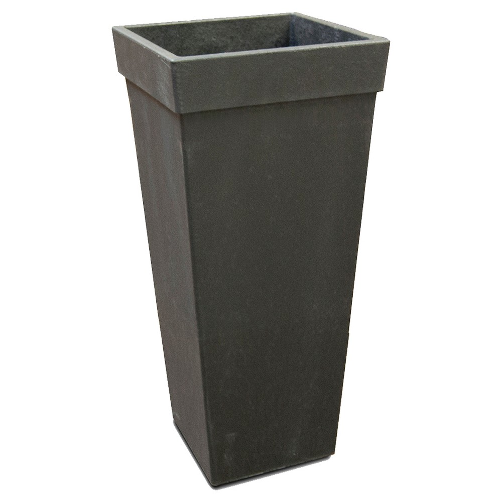 28 Recycled Planter Tapered Square Black - Smith & Hawken