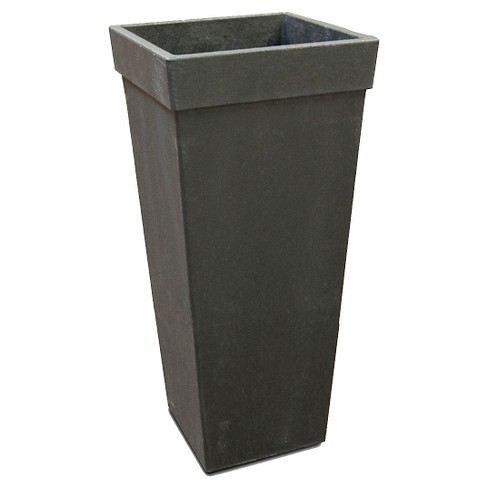 Recycled Square Tapered Planter, Black - Smith & Hawken™ - image 1 of 6