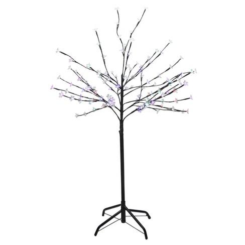 size 40 907d2 3c17f Northlight 4' Prelit LED Cherry Blossom Flower Tree Multi Color Lights