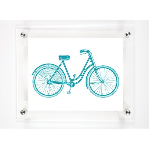 Mitchell Black - Bicycle Hers Decorative Framed Wall Canvas - image 1 of 1