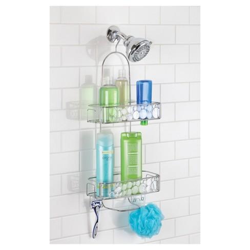 Bathroom Shower Caddy Extra Long Clear/Silver - InterDesign : Target