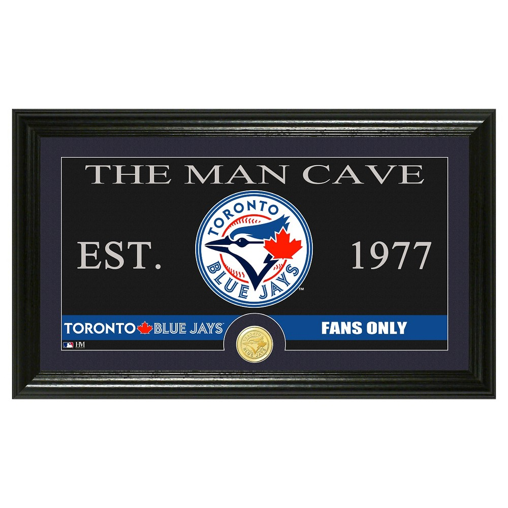 The Highland Mint MLB Man Cave Framed Wall Poster Print Toronto Blue Jays