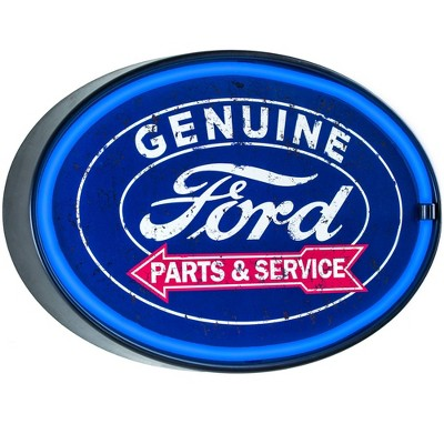 Officially Licensed Genuine Ford Parts and Service LED Neon Light Sign Wall Decor Blue - Crystal Art Gallery