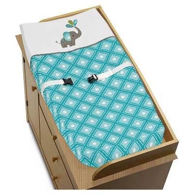 Sweet Jojo Designs Changing Pad Cover - Mod Elephant