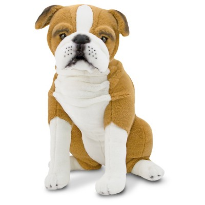 Melissa & Doug Giant English Bulldog - Lifelike Stuffed Animal (nearly 2 feet tall)
