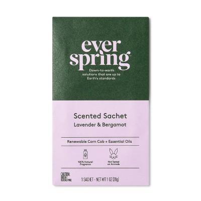 Air Freshener Sachet Lavender & Bergamot - 1oz - Everspring™
