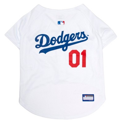 MLB Los Angeles Dodgers Pets First Pet Baseball Jersey - White XXL
