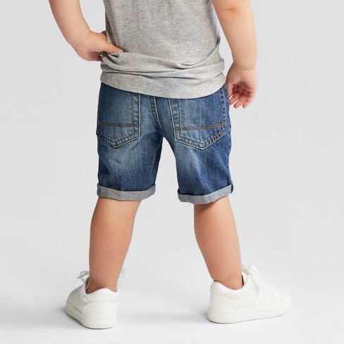 ff3e5dd56 Toddler Boys' Roll Cuff Jean Shorts - Cat & Jack™ Medium Wash : Target