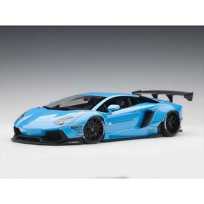 Lamborghini Aventador LB-Works Metallic Sky Blue with Black Wheels 1/18 Model Car by Autoart