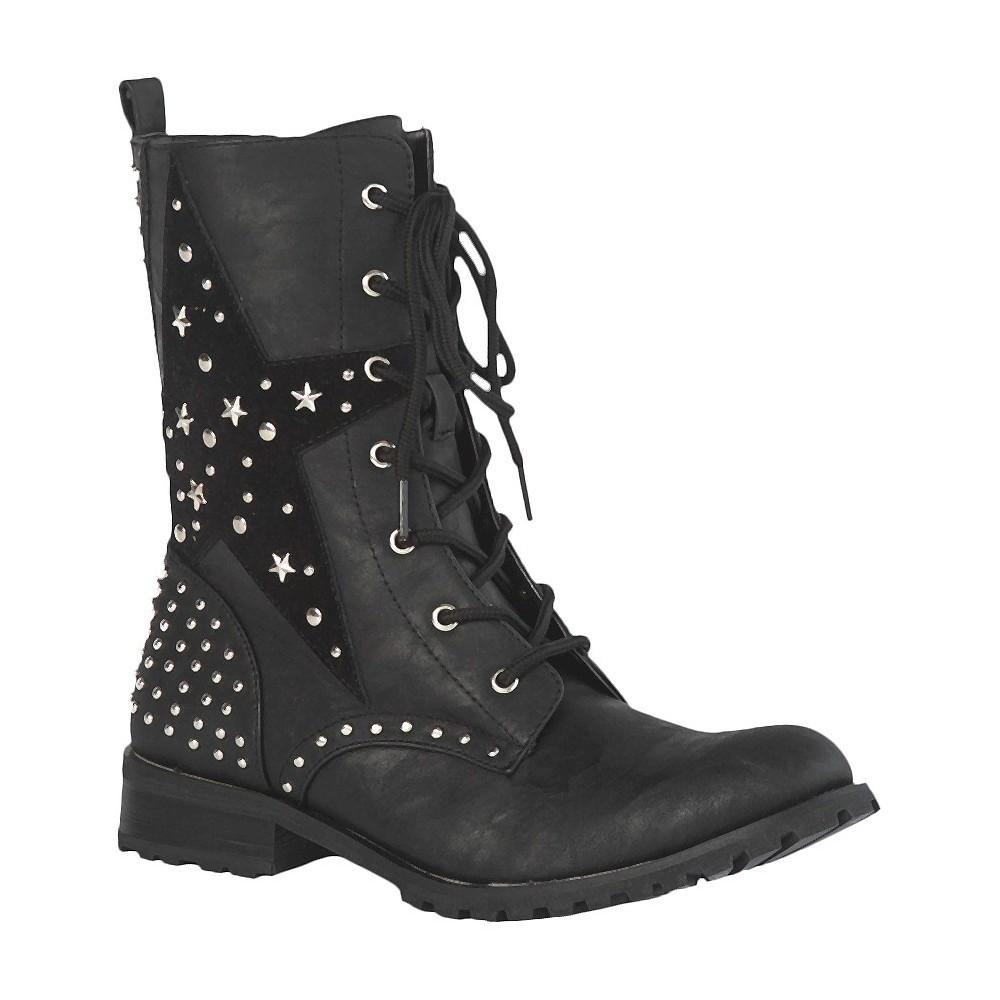 Women's Gia-Mia Combat Dance Boots - Black 12