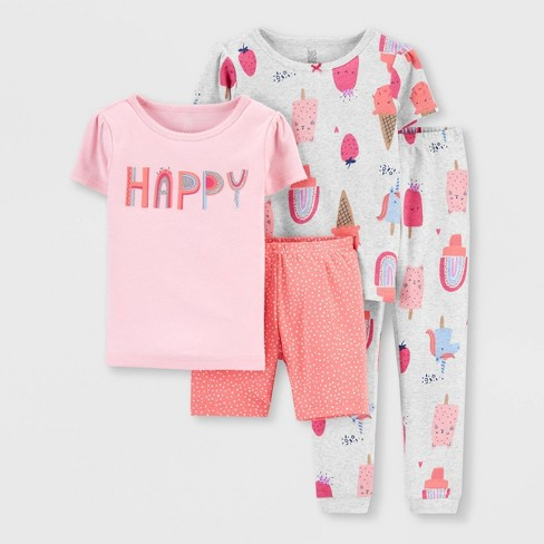 Toddler Girls' 4pc Happy Popsicles Snug Fit Pajama Set - Just One You® made by carter's Pink - image 1 of 3