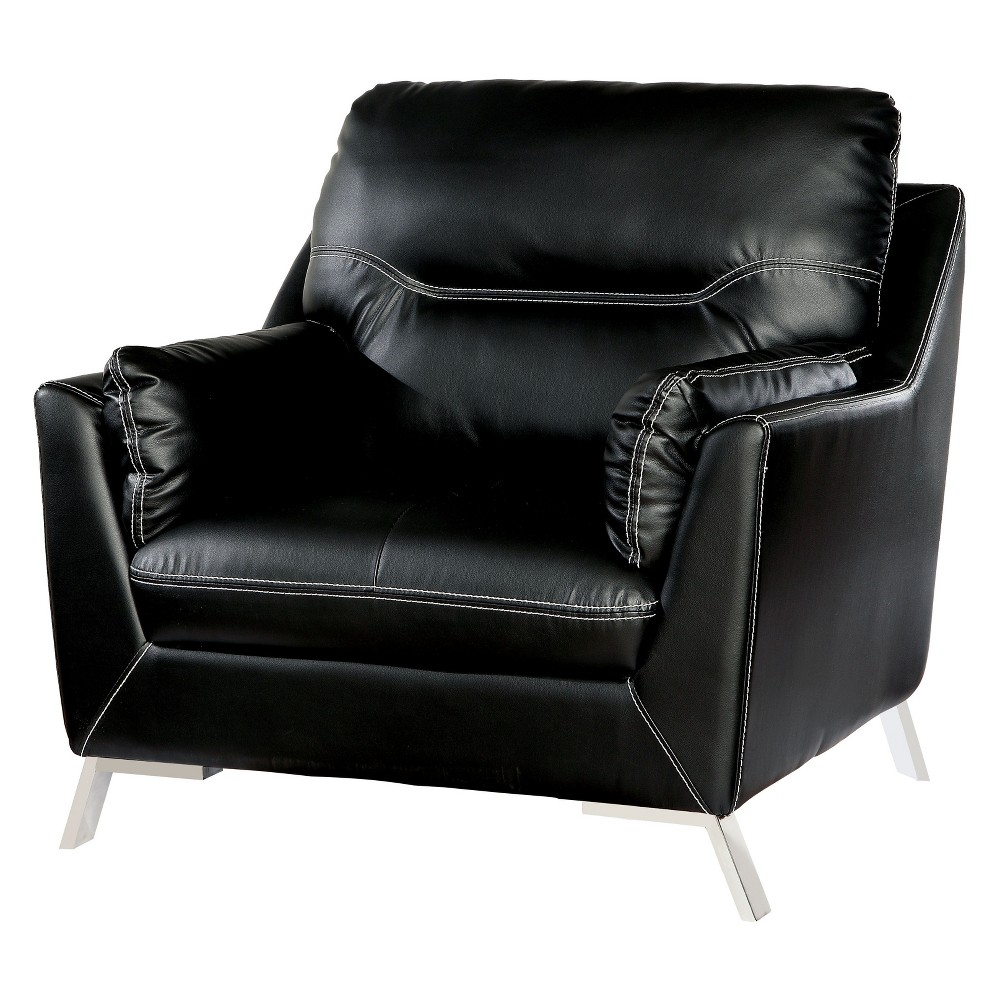 Iohomes Hinojos Contemporary Leatherette Chair Black - Homes: Inside + Out