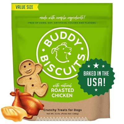 Buddy Biscuits Oven Baked Treats with Roasted Chicken Dry Dog Treats - 3.5lb