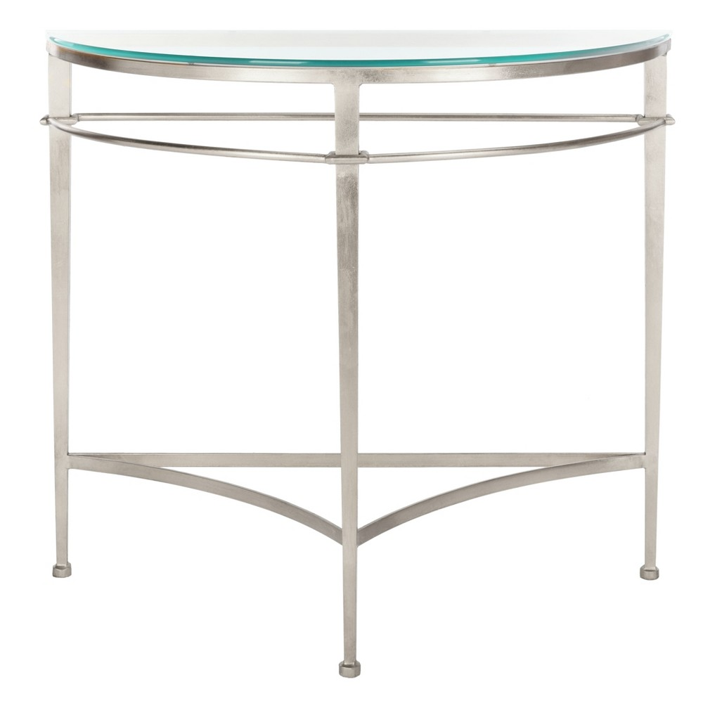 Baur Antique Silver Glass Console Table Antique Silver - Safavieh was $475.99 now $356.99 (25.0% off)