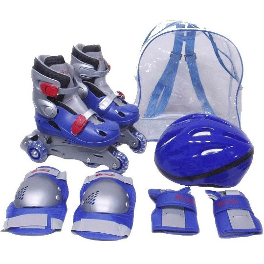 Chicago Boy's Training Skate Combo - Blue (Size1-4), Size: 2.5 image number null