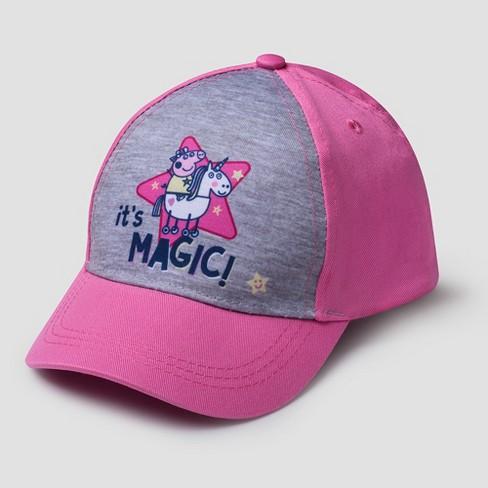 Toddler Girls  Peppa Pig Baseball Hat - Pink One Size   Target f6d62a11512