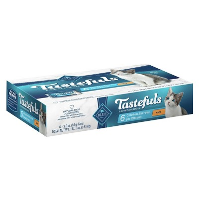 Blue Buffalo Tastefuls Pate Chicken Entrees Kitten Premium Wet Cat Food - 3oz/6ct