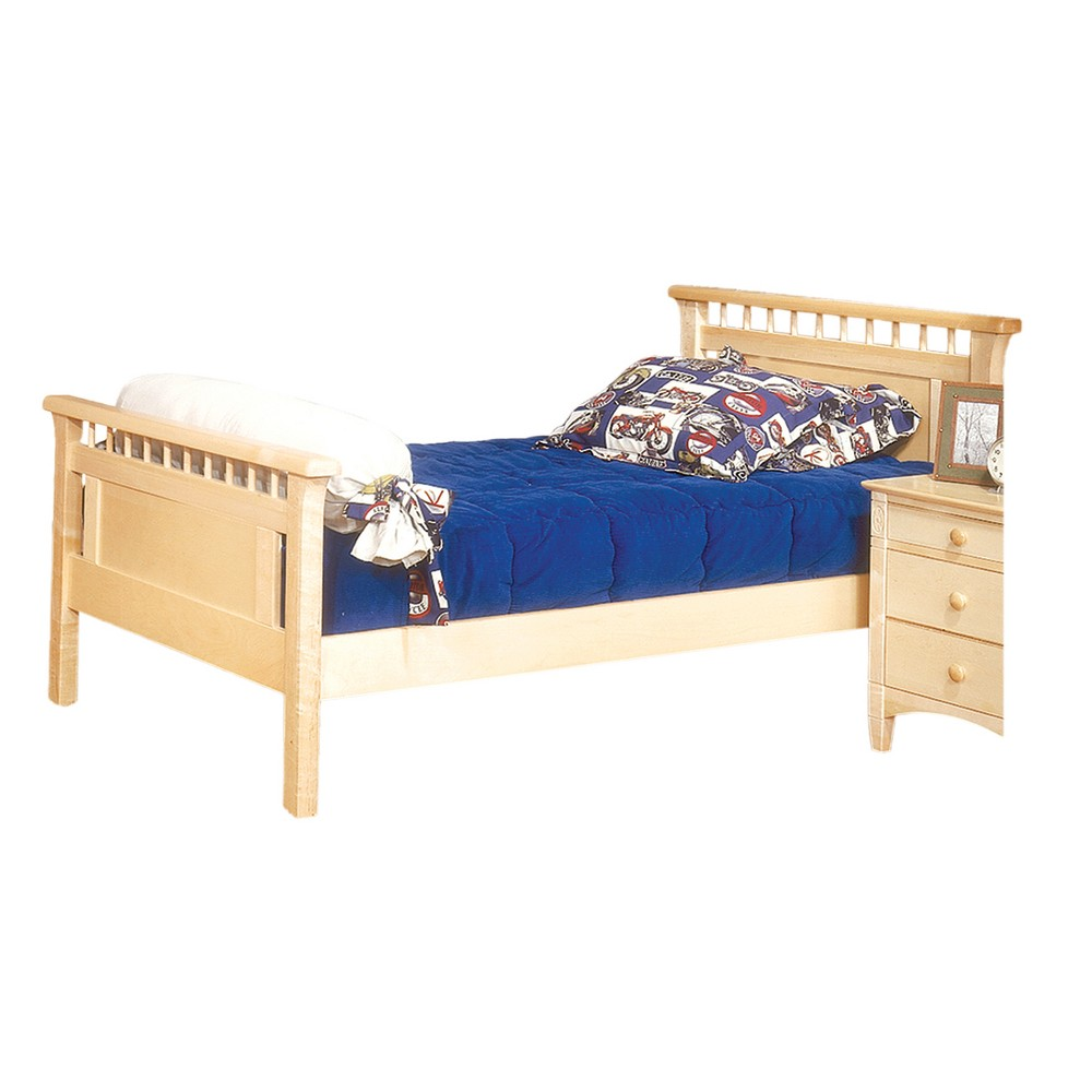 Bennington Twin Bed With Headboard And Footboard Natural - Bolton Furniture