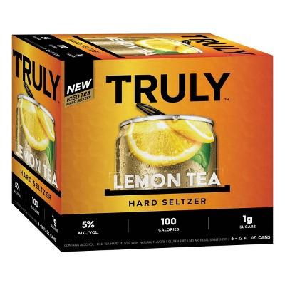 Truly Lemon Tea Hard Seltzer - 6pk/12 fl oz Slim Cans