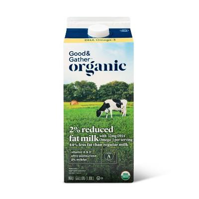 Organic DHA Omega-3 2% Milk - 0.5gal - Good & Gather™